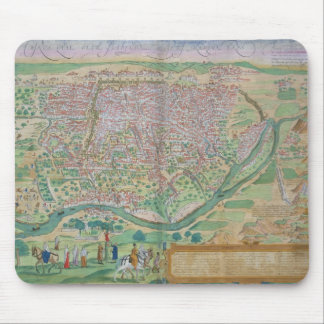 Map of Cairo, from 'Civitates Orbis Terrarum' by G Mouse Pad