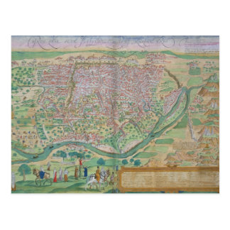 Map of Cairo, from 'Civitates Orbis Terrarum' by G Postcard