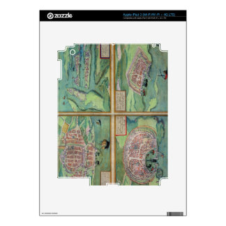 Map of Calais, Malta, Rhodes, and Famagusta, from Decals For iPad 3