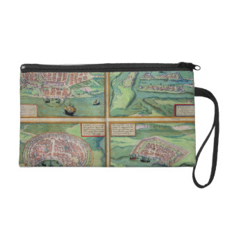 Map of Calais, Malta, Rhodes, and Famagusta, from Wristlet Purse