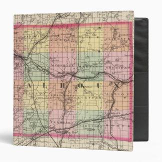 Map of Calhoun County, Michigan 3 Ring Binder