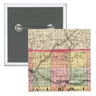 Map of Calhoun County, Michigan Button