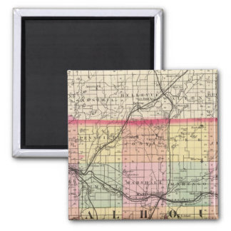 Map of Calhoun County, Michigan Magnet