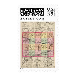 Map of Calhoun County, Michigan Postage