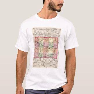 Map of Calhoun County, Michigan T-Shirt