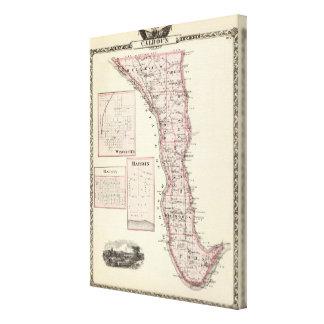 Map of Calhoun County, Winchester Canvas Print