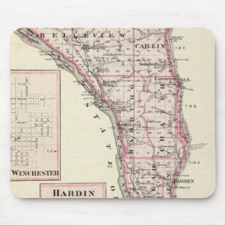 Map of Calhoun County, Winchester Mouse Pad