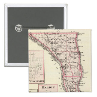 Map of Calhoun County, Winchester Pinback Button