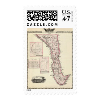 Map of Calhoun County, Winchester Postage