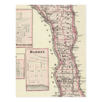 Map of Calhoun County, Winchester Postcard