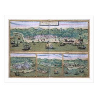 Map of Calicut, from 'Civitates Orbis Terrarum' by Postcard
