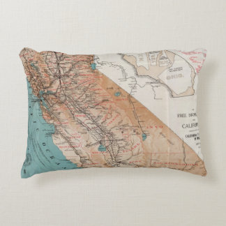 Map of California 2 Accent Pillow