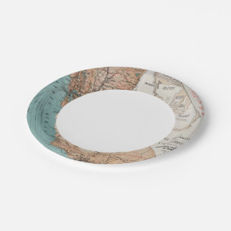 Map of California 2 Paper Plate