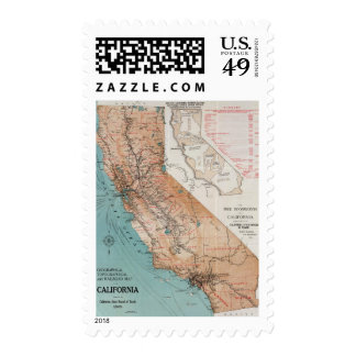 Map of California 2 Postage Stamp