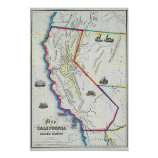 Map of California 2 Poster