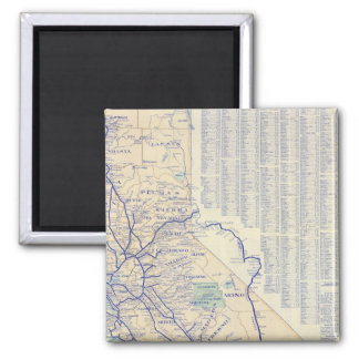 Map of California 4 2 Inch Square Magnet