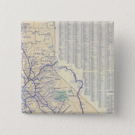 Map of California 4 Pinback Button