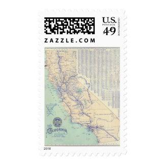 Map of California 4 Stamp