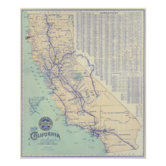 Map of California 4 Poster