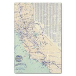 Map of California 4 Tissue Paper