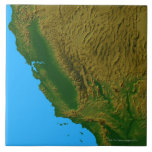Map of California and Nevada 2 Ceramic Tiles