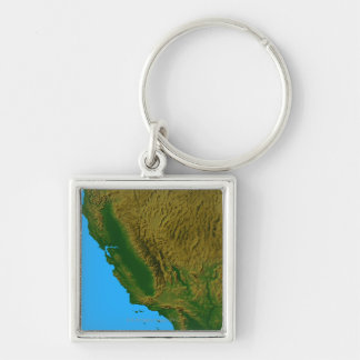 Map of California and Nevada 2 Keychain