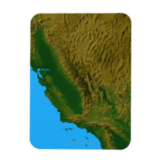 Map of California and Nevada 2 Magnet