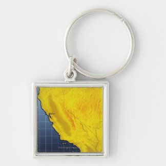 Map of California and Nevada Keychain