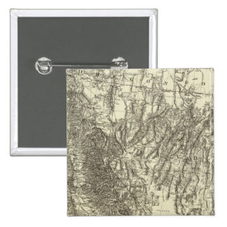 Map of California and Nevada Pinback Button