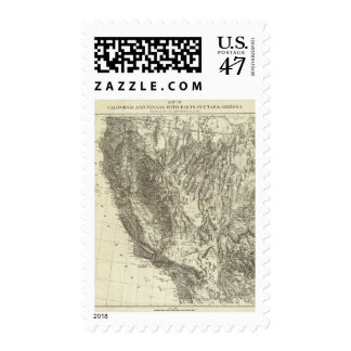 Map of California and Nevada Postage
