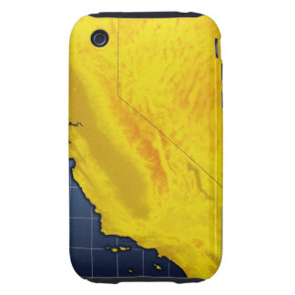 Map of California and Nevada Tough iPhone 3 Case