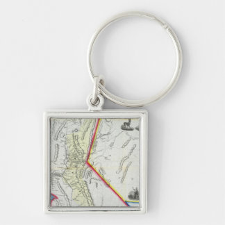 Map of California Keychain
