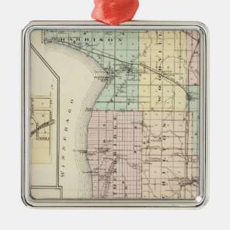 Map of Calumet County, State of Wisconsin Ornament