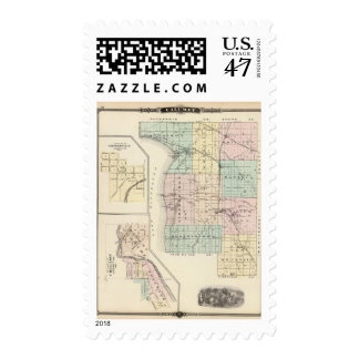 Map of Calumet County, State of Wisconsin Postage