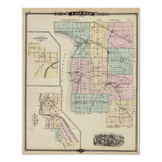 Map of Calumet County, State of Wisconsin Print