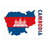 Map Of Cambodia Post Card