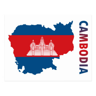 Map Of Cambodia Postcard