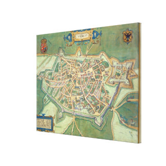 Map of Cambrai, from 'Civitates Orbis Terrarum' by Canvas Print
