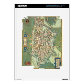 Map of Cambrai, from 'Civitates Orbis Terrarum' by iPad 3 Decals