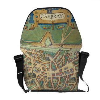 Map of Cambrai, from 'Civitates Orbis Terrarum' by Messenger Bag
