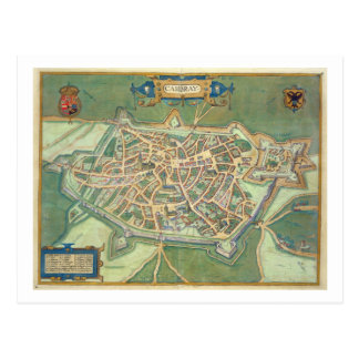 Map of Cambrai, from 'Civitates Orbis Terrarum' by Postcard