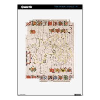 Map of Cambridgeshire, published Amsterdam c.1647- Skins For iPad 3