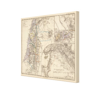 Map of Canaan Canvas Print
