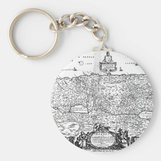 Map of Canaan Keychain