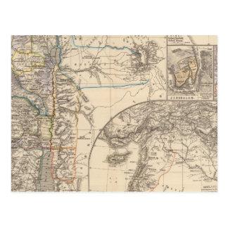 Map of Canaan Postcard