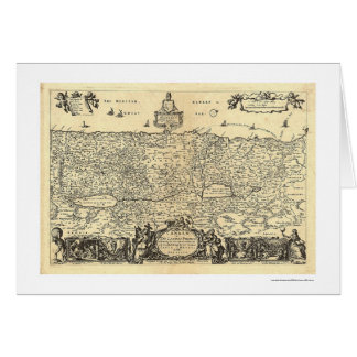 Map of Canaan The Land of Promise By Moxon 1680 Card