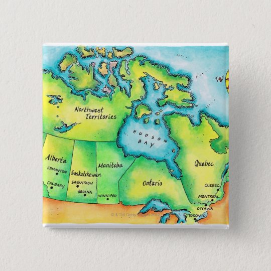 Map of Canada 2 Button