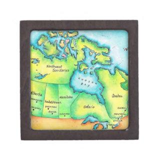 Map of Canada 2 Jewelry Box