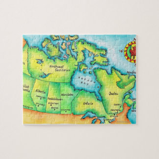 Map of Canada 2 Jigsaw Puzzle