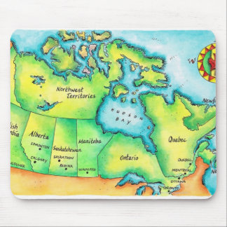 Map of Canada 2 Mouse Pad